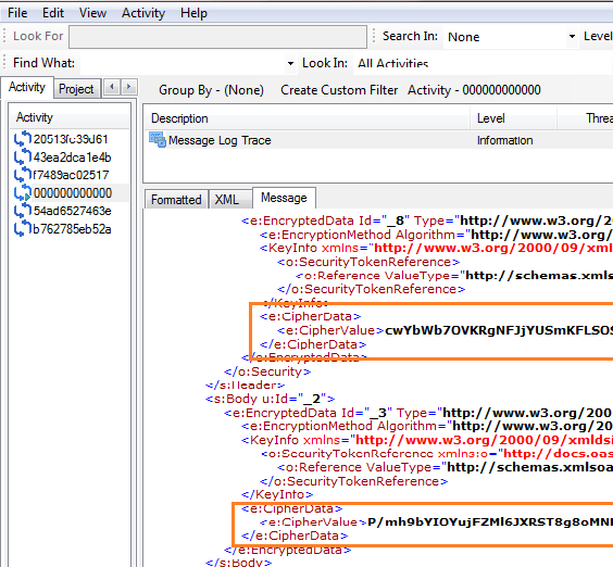 Northwind Trace for WCF Message Level Security