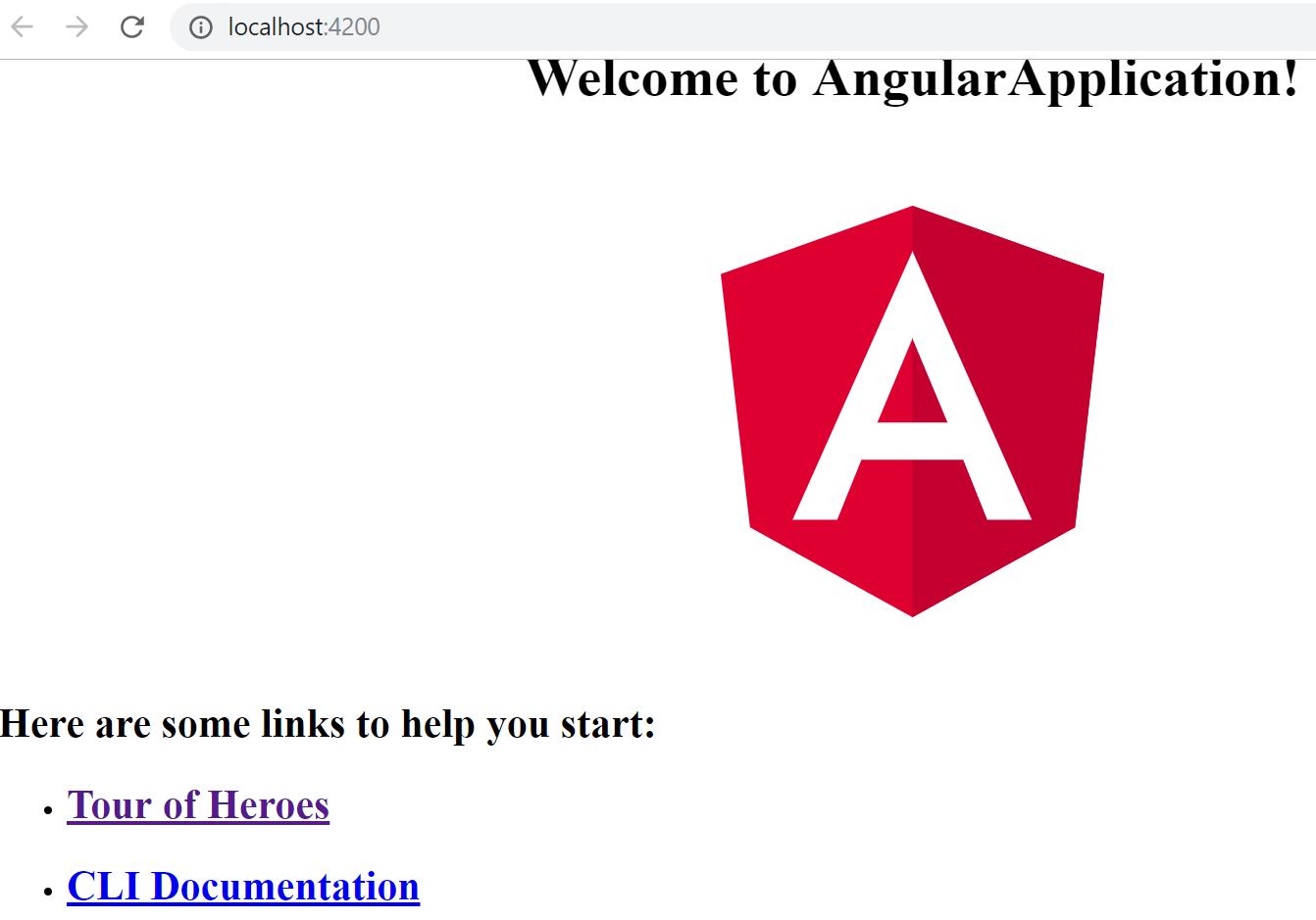 angular output of ng serve --o