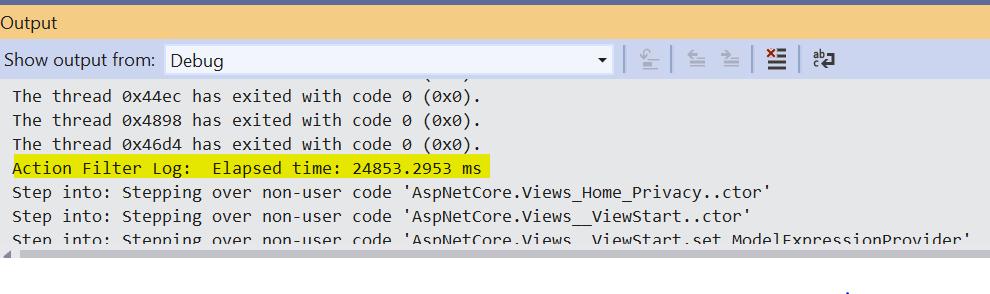ASP.NET Core MVC Action Filter