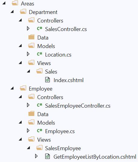 ASP.NET Core MVC Multiple Areas