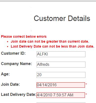 ASP.NET MVC custom validation