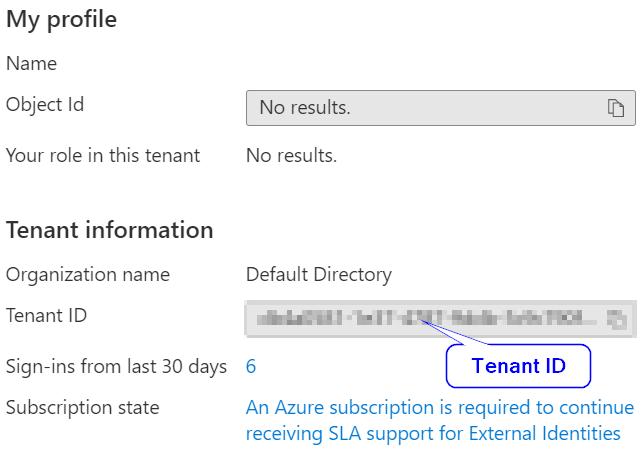 Get Azure Tenant id