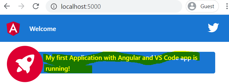 launch first angular app with vscode