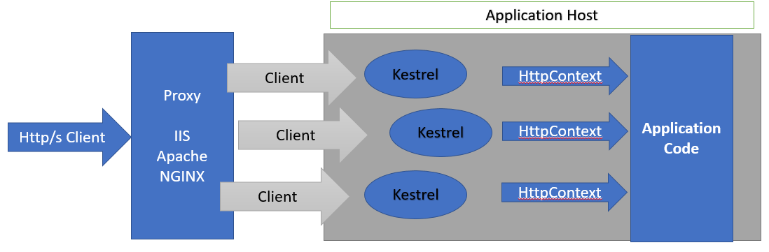 http request with kestrel web server with proxy