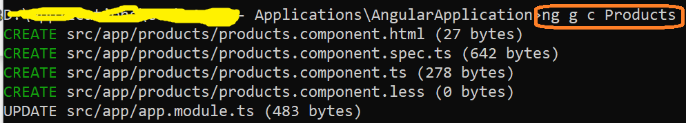 generate new angular component using angular cli