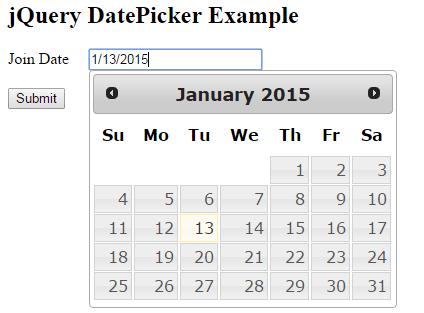 Simple jQuery UI DatePicker in MVC View